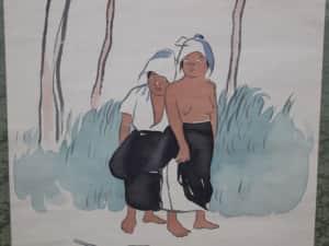 小川芋銭 草刈女図