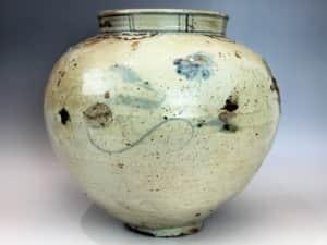 李朝 鐵砂壺