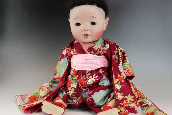 市松人形 男の赤ちゃん 45㎝