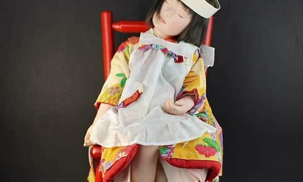 稲邊智津子作 創作人形「夢うさぎ」