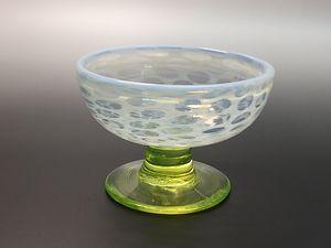 乳白ぼかし 丸紋ウランガラス氷コップ