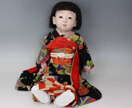 市松人形 松玉作鳴き人形 約52cm