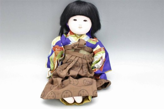 野崎芳寿 市松人形 男の子 約32cm