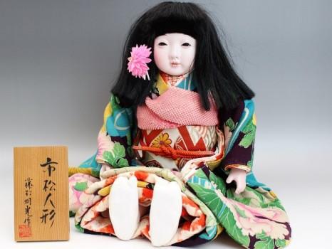 藤村明光の市松人形・女の子52cm