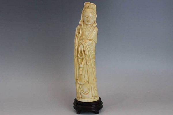 象牙彫刻 観音立像