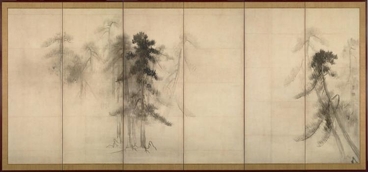 「松林図」長谷川等伯