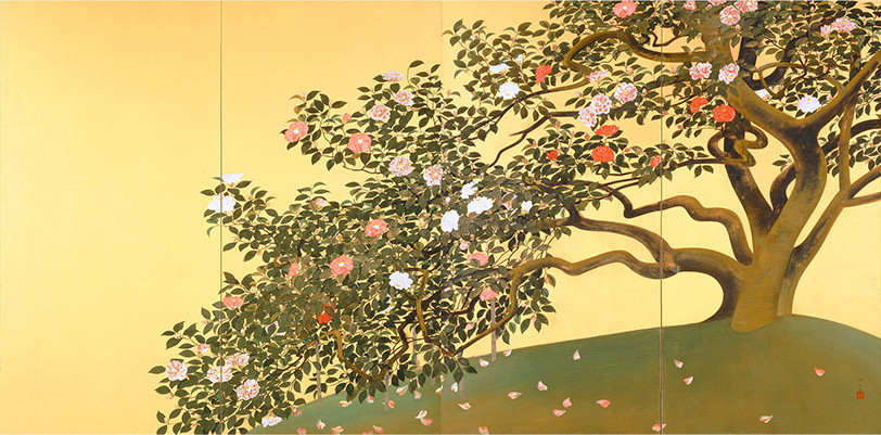 「名樹散椿図」速水御舟
