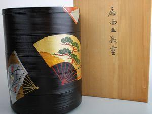山田平安堂漆器 扇面五段重