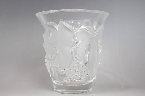 ラリック・花瓶 葡萄のレリーフ