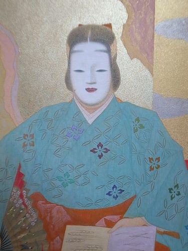 能画家 松野泰風作の日本画