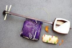 象牙糸巻き紅木三味線
