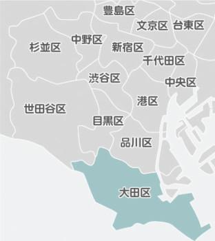 大田区の近隣地図
