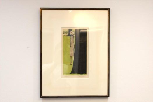 ジャン=ピエール・カシニョール リトグラフ「木立の女」300部 鉛筆サイン