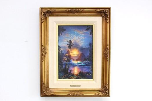 クリスチャン・ラッセン 手彩色ミクスドメディア「Beckoning Light」