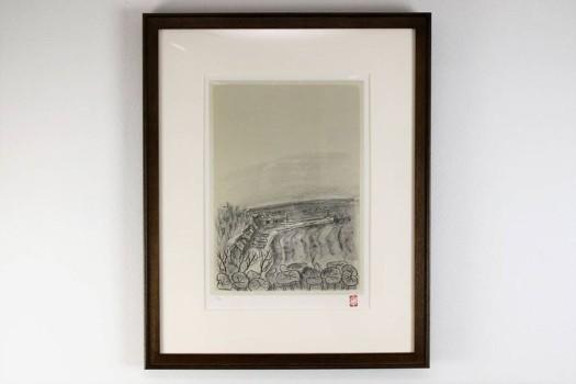香月泰男 リトグラフ「海(知床)北の旅からより」