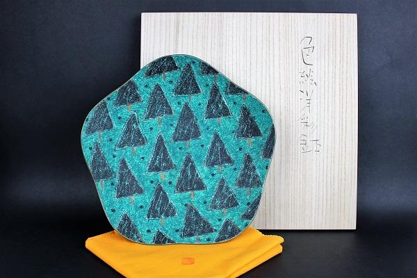 世田谷区駒沢公園:前田正博作 色絵洋彩鉢