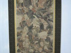 十六羅漢図掛軸