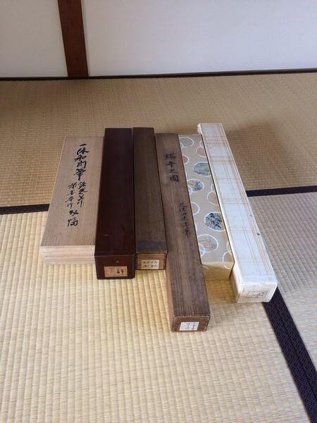 久保田米僊・一休和尚筆の書など掛け軸6本