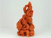 珊瑚彫刻 恵比寿大黒像