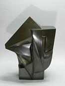 河西泰三作 鋳銅彫刻『集映』