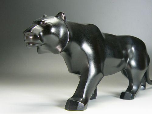 アールデコ彫刻 秀明作『虎』