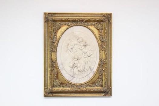 エレーヌ・ベルトー 額装大理石彫刻