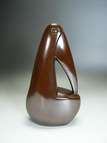 中島保美作 鋳銅『ペリカン』オブジェ
