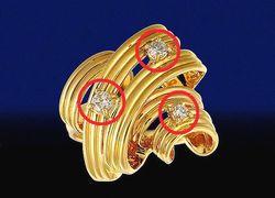 地金についた小さなメレダイヤ・宝石も買取価格に反映