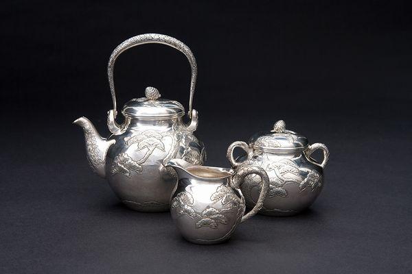 純銀茶器セット