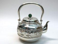 純銀饕餮紋急須