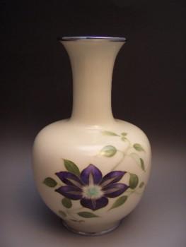 七宝焼 田村幸夫作花瓶