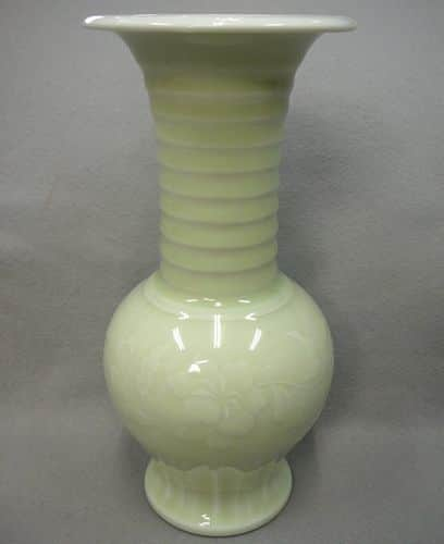 伊東翠壺作 京焼古代文花瓶
