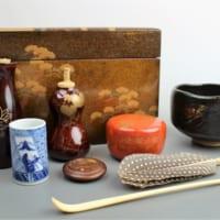 住吉蒔絵の茶箱・茶道具一式