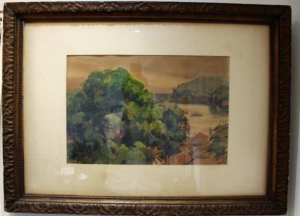 眞野紀太郎作の油彩画