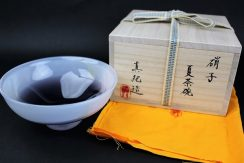 中村真紀作ガラス茶碗